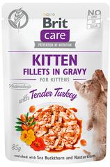 Brit Care Cat Kitten Fillets in Gravy with Tender Turkey 24x85 g