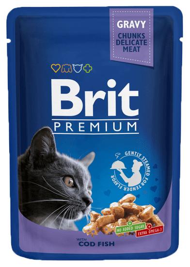 Brit Premium mokra hrana za mačke, polenovka, 100 g, 24 kos