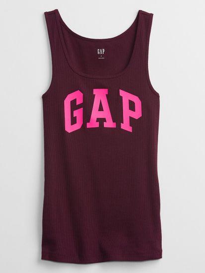 Gap Majica brez rokavov print ribbed tank Top