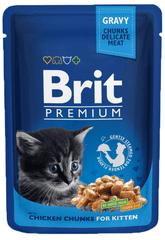 Brit Premium mokra hrana za mačje mladiče, piščanec, 100 g, 24 kos