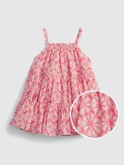 Gap Dojenčki Obleka gauze tiered floral dress 3-6M