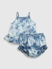 Gap Baby set tie-dye denim outfit set 12-18M