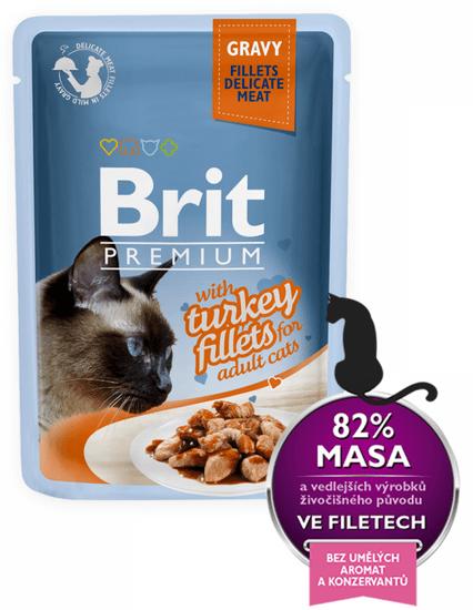 Brit Premium fileji purana v želeju, za mačke, 85 g, 24 kos