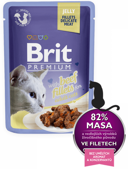 Brit Premium Cat Delicate Fillets Jelly Wołowina 24x85g