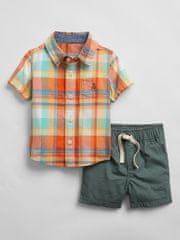 Gap Baby set plaid shirts two-piece 6-12M