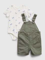 Gap Baby set woven shortall set 3-6M