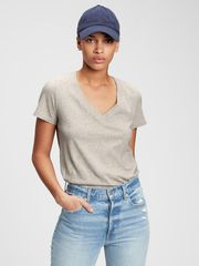 Gap Majica 100% organic cotton vintage v-neck t-shirt XXS