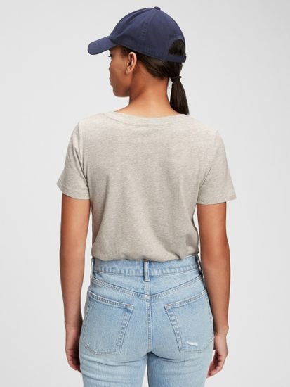 Gap Majica 100% organic cotton vintage v-neck t-shirt
