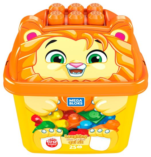 MEGA BLOKS Vödör kockákkal, Narancssárga oroszlán kölyök