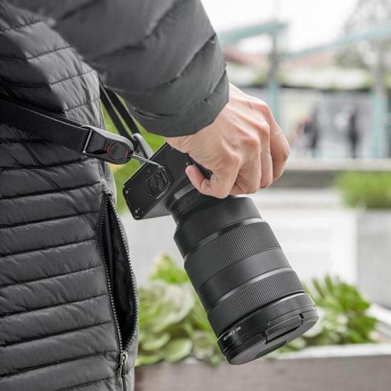 Peak Design Peak Design Leash - črn (L-BL-3) večnamenski trak za manjše DSLR-je ali mirrorless fotoaparate