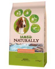 IAMS Naturally Rich In hrana za pse, losos in riž, 2,7 kg