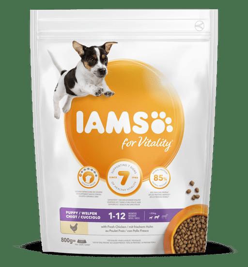 IAMS For Vitality hrana za pse s svežim piščancem, do 1 leta, 800 g