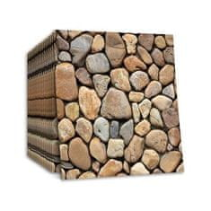 Netscroll 3D stenske nalepke tapete v imitaciji kamna Stones3DWallpaper