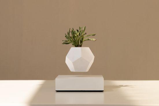 Flyte Levitující designový květináč LYFE Planter WHITE