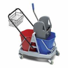 NOELLE Upratovací vozík, 2 kýbel 15 litrov, žmýkač na mop