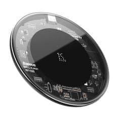 BASEUS ładowarka bezprzewodowa Simple 15W (Type-C) WXJK-BA02, transparentna