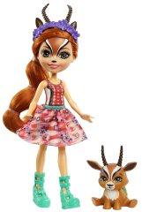Mattel Enchantimals baba és kisállat Gabriela Gazelle és Racer