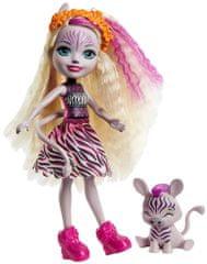 Mattel Enchantimals baba és kisállat Zadie Zebra és Ref