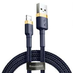 BASEUS Cafule przewód do ładowania / transmisji danych USB do Lightning 2,4 A 1 m CAKLLF-BV3, złoto-niebieski