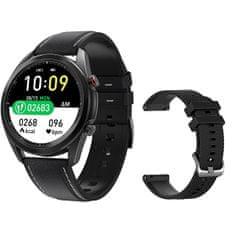 Wotchi Smartwatch W75B - Black Leather + pótpánt