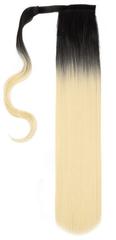 Vipbejba Sintetični čop na trak/pramen, raven, ombre črne-platinum blond S11