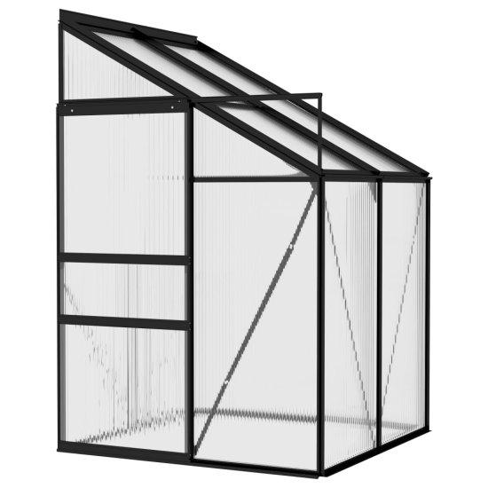 shumee Skleník antracitový hliník 2,59 m³