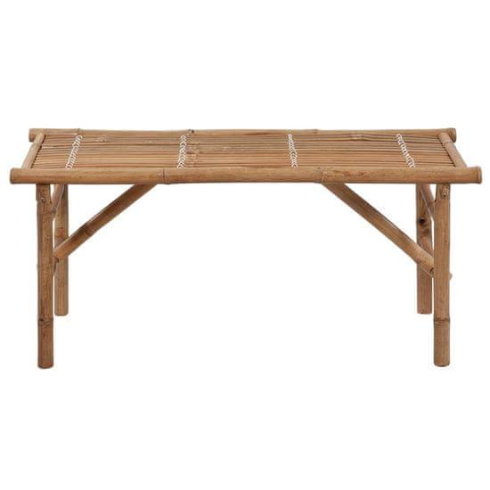 shumee Skladacia záhradná lavička s podložkou 118 cm bambus