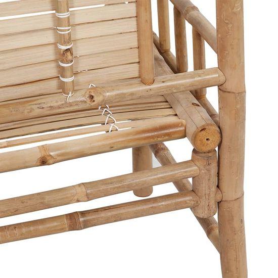 shumee bambusz kerti pad párnával 120 cm
