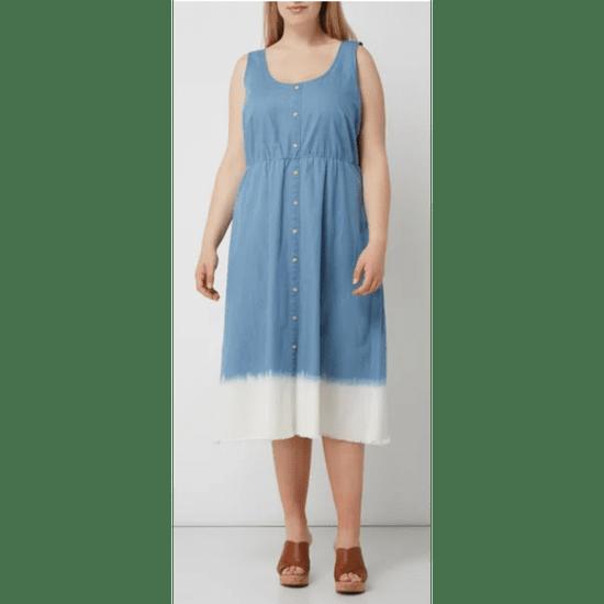 Junarose  rifľové šaty Modro belasé