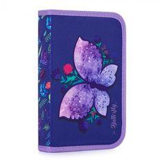 Karton PP Penál 1 p. s chlopní, naplněný Motýl