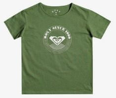 Roxy Dayandnightlogo ERGZT03753-GNT0 dekliška majica, XS, zelena