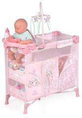 DeCuevas 53041 Zložljiva posteljica za punčke s 5 funkcionalnimi dodatki Ocean Fantasy