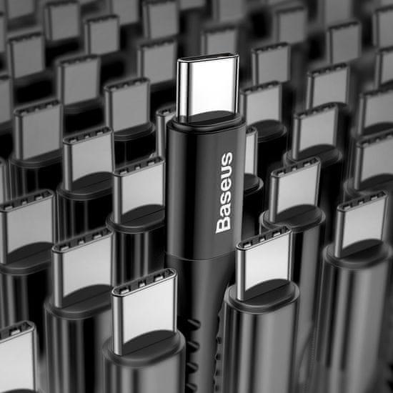 BASEUS Fish Eye spirál töltő- / adatkábel USB - USB-C 2A 1m CATSR-01, fekete