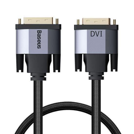 BASEUS Enjoyment Series kábel DVI hím - DVI hím, kétirányú átvitel, 1 m CAKSX-Q0G, szürke