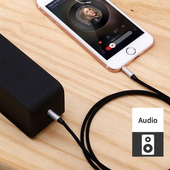 BASEUS Yiven Series audio kábel 3,5 mm jack 1 m CAM30-B91, piros/fekete