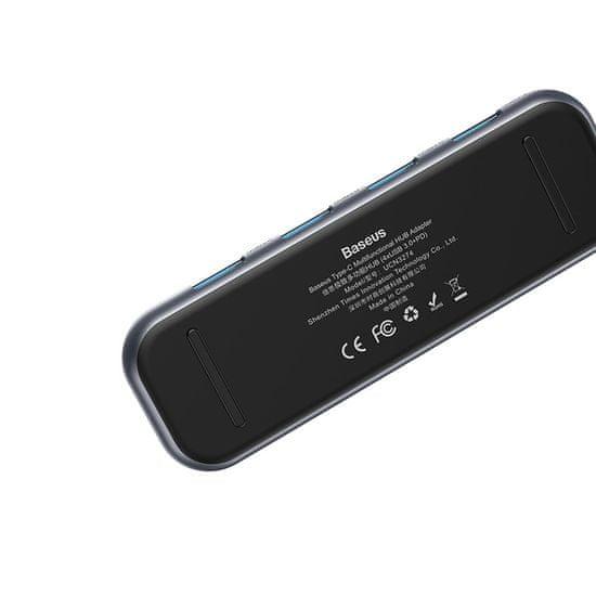 BASEUS Multifunkcionális HUB USB-C (4× USB 3.0, USB-C PD) CAHUB-EZ0G, szürke
