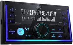 JVC KW-X830BT 2din Bluetooth autórádió, 2 DIN autó rádió, mechanika nélküli, 4x50 watt, fekete