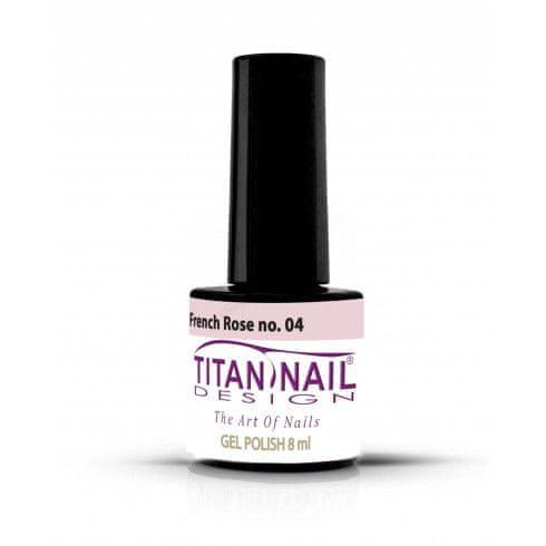 Titan Nail Design UV/LED lak za nohte (Gel Polish) - 8ml - French Rose (no. 04)