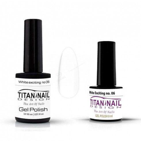 Titan Nail Design UV/LED lak za nohte (Gel Polish) - 8ml - White Exciting (no. 06)