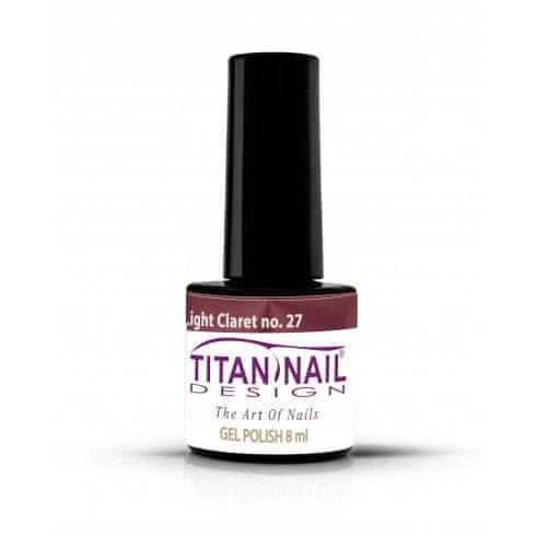 Titan Nail Design UV/LED lak za nohte (Gel Polish) - 8ml - Light Claret (no. 27)