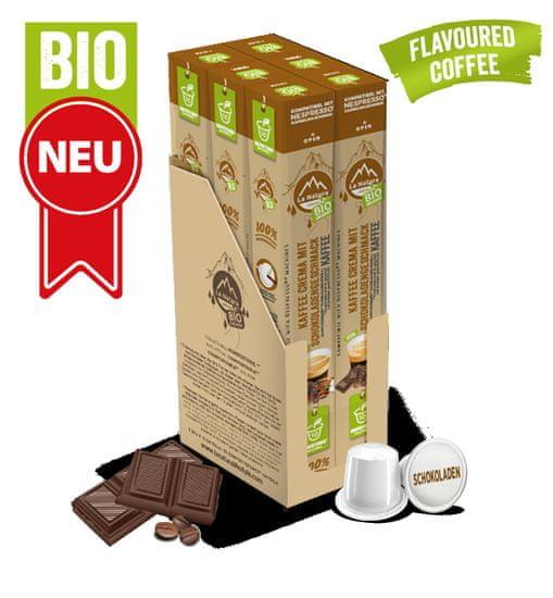 LA NATURA Lifestyle Crema BIO káva s přírodní čokoládovou příchutí - 60 kapslí