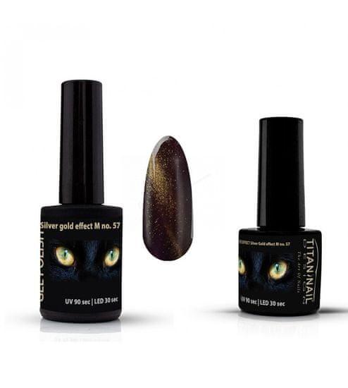 Titan Nail Design UV/LED lak za nohte (Gel Polish) - 15ml - Silver-Gold Effect-M (no. 57)