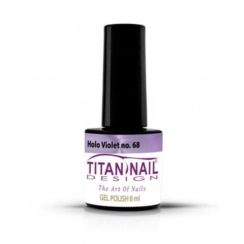 Titan Nail Design UV/LED lak za nohte (Gel Polish) - 8ml - Holo Violet (no. 68)