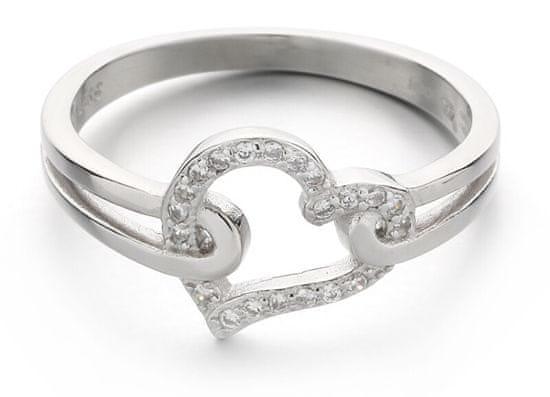 MOISS Romantikusezüst gyűrű cirkónium kövekkel R000210 ezüst 925/1000