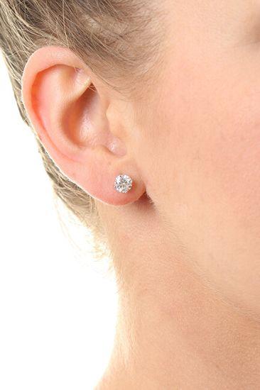 MOISS Bájos bedugós fülbevalók cirkónium kövekkel E000143