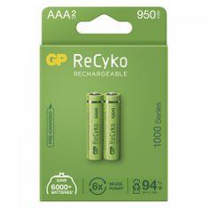 GP ReCyko polnilni bateriji, 1000 mAh, HR03, AAA, 2 kos