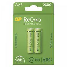 GP ReCyko punjive baterije, 2700 mAh, HR6, AA, 2 kom