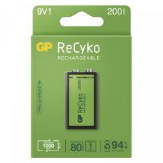 GP ReCyko polnilna baterija, 200 mAh, 9 V, 1 kos