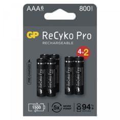 GP ReCyko Pro polnilne batterije, HR03, AAA, 6 kos