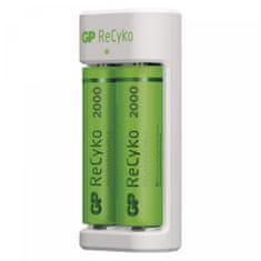 GP Eco E21 polnilnik Baterij + ReCyko 2000 polnilni bateriji, 2 x AA